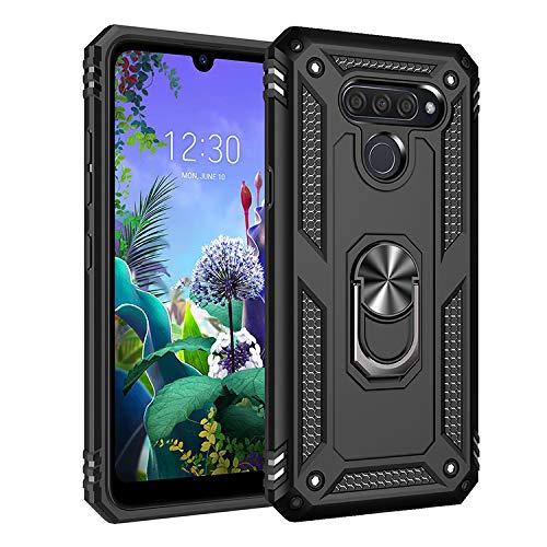 BestST LG K50 / LG Q60 Hülle 360 Grad Handyhülle Bumper Hülle Robust Cover [Ultra Hybrid Schutzhülle ]+ Bildschirmschutz für LG K50 / LG Q60 Schwarz
