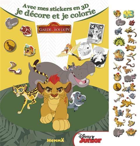 LA GARDE DU ROI LION - Avec mes stickers en 3D, je décore et je colorie