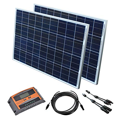 Solar Set 12 V Solaranlage Solarkit PV Inselanlage Wohnmobil Solarmodul Laderegler, Wattzahl:200 W