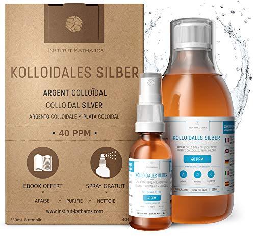 Kolloidales Silber 100% natürlich ● 40 PPM (300ml) ● Cosmos Natural zertifiziert ● Mit...