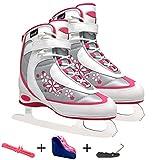 Profi Kinder Eiskunstlauf Eiskunstlauf Schlittschuhe Schuhe Warm Kälte Resistance Blumenmesser Eishockey Patines mit Klingenschutz Spitze Werkzeug und Tasche