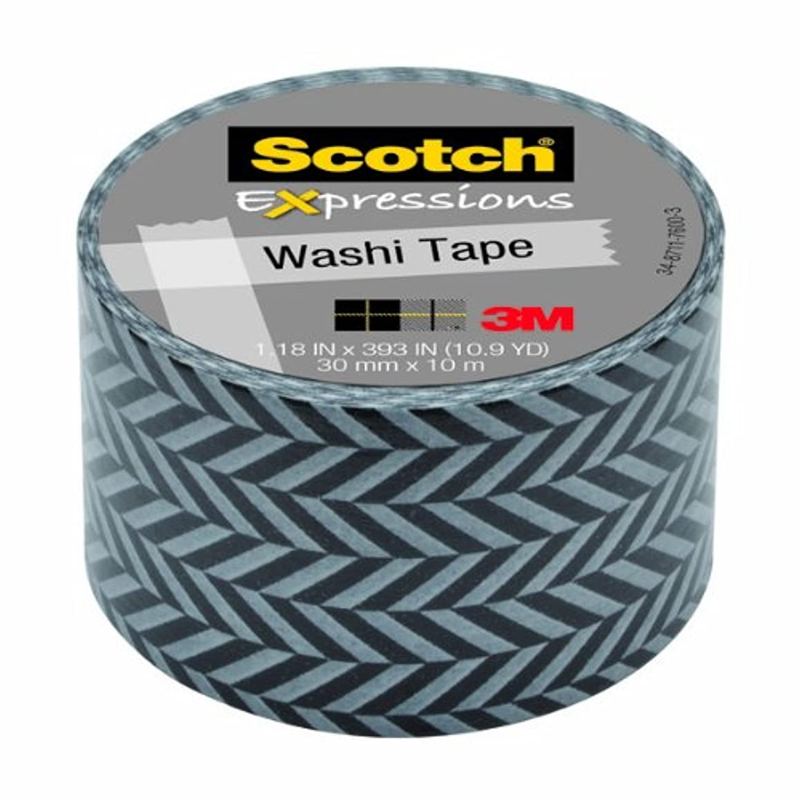 Scotch Expressions Washi Tape, 1.18-Inches x 393-Inches, Zig Zag, 6 Rolls/Pack