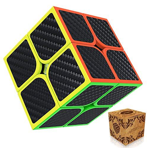 SPLAKS 2x2x2 Zauberwürfel magische Würfel Geschwindigkeit mit optimierten Dreheneigenschaften für Speed-Cubing
