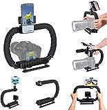 Estabilizador de cámara de mano Hydra Stabilizer DC + DV Soporte para 2 manos Dispositivo de agarre de mano Compatible para cámaras de acción Gopro + Sony DSLR Canon Nikon Canon + iPhone / Samsung