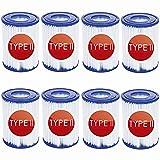 Cartuchos de filtro de tamaño 2 para Bestway 58094, filtro tamaño 2 para Bestway 58383/58386/58389 Flowclear (8 unidades)
