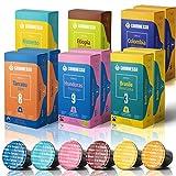 Gourmesso Espresso Bundle - 100 Espresso Pods Compatible with Nespresso Machines100% Fair Trade | Includes Dark Roast, Medium Roast, Light Roast Espresso Pods Variety Pack