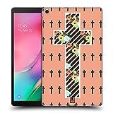 Head Case Designs Corail Croix Florale Collection de Croix Coque Dure pour l'arrière Compatible avec Samsung Galaxy Tab A 10.1 (2019)