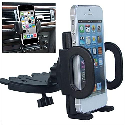 ZJF Rotación de 360 Grados Universal CD Slot Slot Teléfono Soporte de Montaje Cuna Compatible con iPhone Samsung