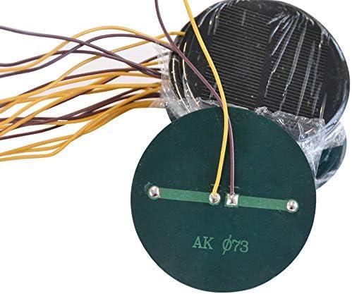 Solar Max 54% OFF Panel DIY Battery Charger 100mA 73mm 4V Diameter Powerbank Boston Mall