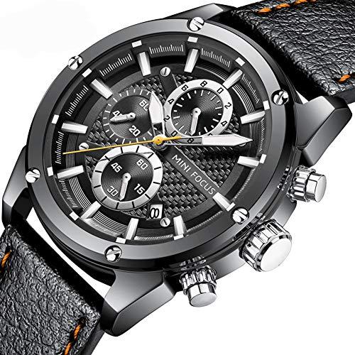 Excellent Quarz-Uhren für Männer Genf Art und Weise beiläufige Uhr-analoge Anzeige Leder-Band-Armbanduhr Uhren Große Herren-Geschenk,04