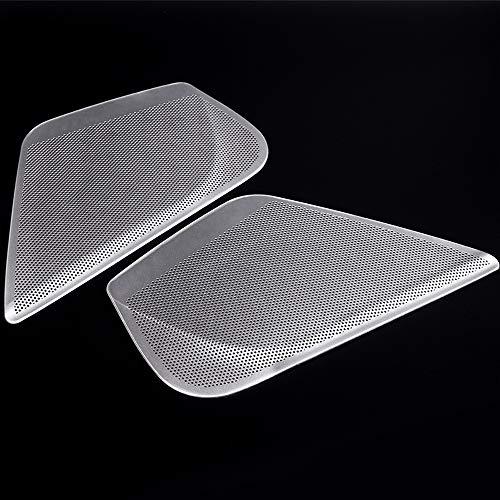XHULIWQ 2 stücke Aluminiumlegierung Autoseite Haustür Audio Lautsprecher Abdeckung Trim Autozubehör, Für Audi A6