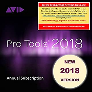 Avid Pro Tools 2018 Academic Annual Subscription (Download Card + iLok)
