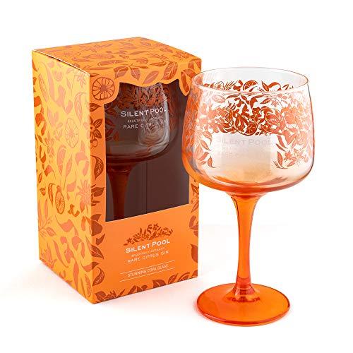 Silent Pool Gin Seltenes Citrus Gin Copa Glas – in Geschenkbox (1 Packung, in Geschenkbox)