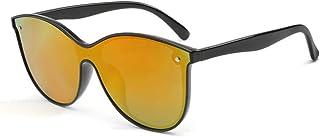 GR Men Women Fashion Cat Eyes Polarized Sunglasses Outdoor Pc UV400 Siamese Riding Glasses Trend Eyewear Sunglasses for Unisex (Color : Orange)