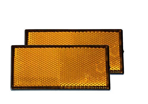 HP-Autozubehör 10214 Reflektor Orange eckig Set 2 Stück