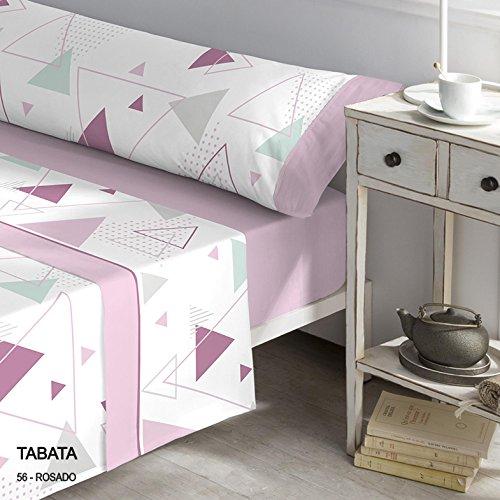 CATOTEX - Juego sábanas Franela Tabata. Cama 105 cm. Color Rosa