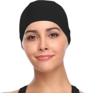 SHEKINI Womens Sports Nylon Spandex Fabric Swimming Cap Bathing Cap Head Cover