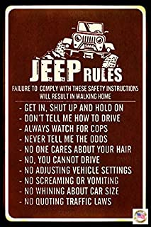 Jeep Rules Sign! Made in USA! 8