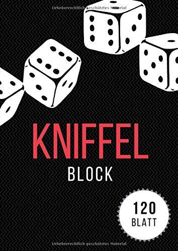 Kniffel Blocks: A4 Groß Würfelspiel Gewinnblatt Block | 120 Blatt | Block für Würfelspiel | Yatzy Blöcke | Knife Blocks Spielblock
