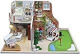Accesorios para El Hogar Casa De Muñecas Mini Kit De Casa De Bricolaje Sala Creativa, Muebles con Regalos Románticos De San Valentín (Viaje De Golf)