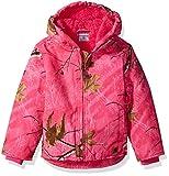 Carhartt Girls' Big Redwood Jacket Sherpa Lined, Pink Peacock Camo, Large(14)