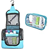 The Fine Living Co. USA Portable Hanging Shower Caddy Organizer, Quick Dry Mesh Shower Caddy Tote Included 1 Toiletries Case and Metal Hook, Perfect for Dorm, Camp, Travel, Gym