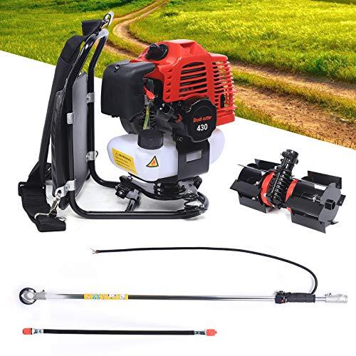 Fresadora de gasolina para jardín, motor multifunción, 4 tiempos, gasolina, cortacésped, potente cultivador, rotovador, pipa, herramientas de jardín