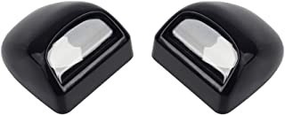 HERCOO License Plate Lights Lamp Lens Black Housing Compatible with 1999 after Silverado Sierra Avalanche Suburban Escalade Yukon Chevy GMC Cadillac Step Bumper Truck Clips Aftermarket, Pack of 2