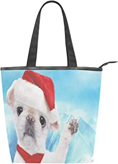Canvas Tote Bag Dinosaur Happy Birthday Womens Canvas Shoulder Grocery Shopping Bags with Zipper & Pockets