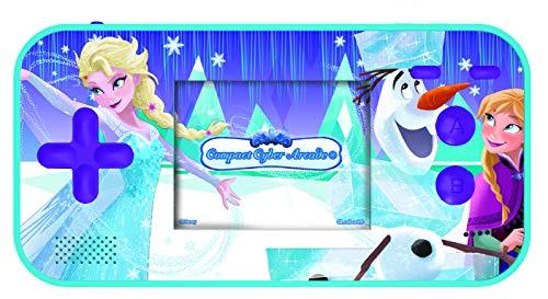 LEXIBOOK- Disney Frozen Compact Cyber Arcade Consola portátil, 150 Juegos, LCD, con Pilas, Azul, Color (China)
