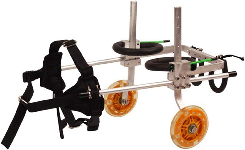 Adjusting pet wheelchair Adjustable dog wheelchair, hind leg repair 2 wheel dog stroller rehabilitation training car (Size   S)