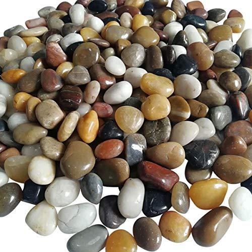 OLMME 11 Libras de Grava Pulida Piedras de Colores Mezclados Pulidos Naturales Pequeñas Piedras Decorativas de Roca de Río para...
