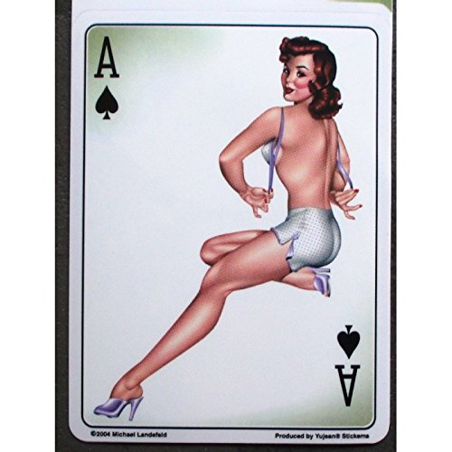 Hotrodspirit – Sticker Pin-up Sexy AS Pique,Autocooling Kartenspiel