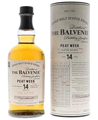Balvenie Settimana della Torba Scotch di Malto Singolo Invecchiamento di 14 Anni - 700 ml