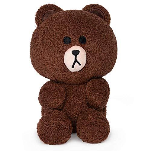 "GUND LINE Friends Brown Seated Plush Stuffed Animal Bear, Brown, 7"""