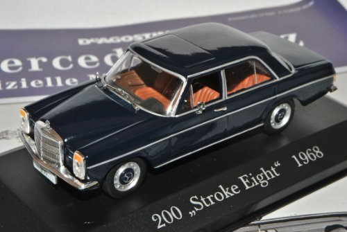 Ixo Mercedes-Benz 200 /8 Strich Acht Limousine Blau W114 W115 1967-1976 Inkl Zeitschrift Nr 8 1/43 Modell Auto