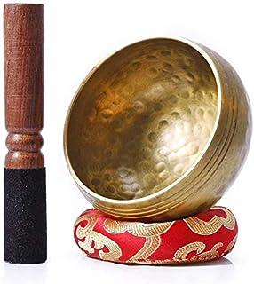 مجموعه کاسه های آواز Bigga Tibetan - با کوله پشتی ملت و ابریشم- تشدید کامل مراقبه یوگا و چاکره کاسه دستباف شفابخوری. هدایای کامل