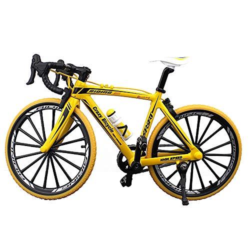 BicycleCrazy Deko Fahrrad Miniatur 1:10 (Rennrad gelb)