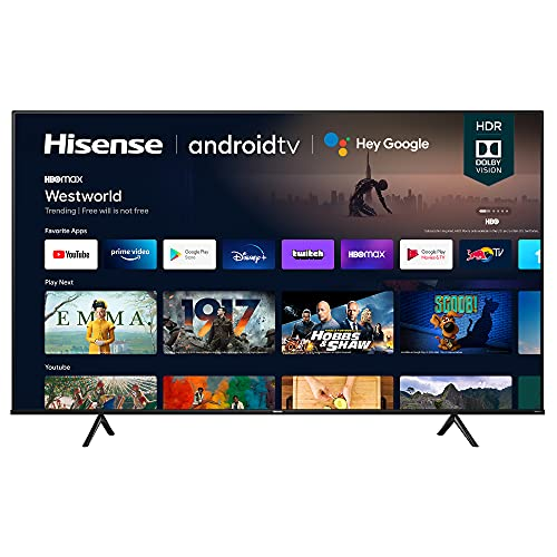 Hisense 75A6G 75-Inch 4K Ultra HD Android Smart TV with Alexa Compatibility (2021 Model)