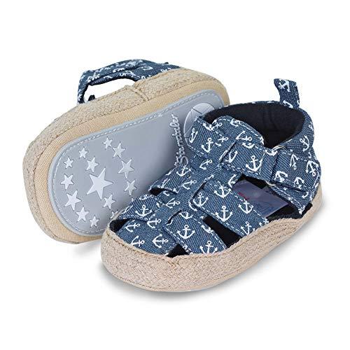 Sterntaler Unisex-Baby-Sandalen, Klettverschluss, Rutschfeste Sohle, Farbe: Marine, Größe: 21/22, Art.Nr.: 2302106.0