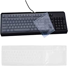 Reusable Waterproof Keyboard Cover, Universal Clear Anti-Dust Keyboard Skin Protector Cover for 104/107 Keys Standard Desktop Keyboard (2 Pack)