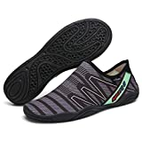 B/H Suela de Goma Zapatos de Agua,Malla Secado Rápido Sandalias,Calzado de Playa para el Agua, Calzado para vadear al Aire Libre, Calzado Ligero para Nadar-M_46