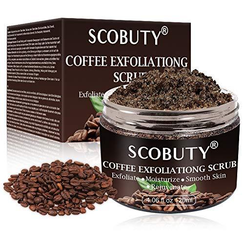 Coffee Scrub,Körperpeeling, Body Scrub,Kaffee Body Scrub Peeling für das Peeling glättende Haut, Anti-Cellulite, Reduzieren Poren Reinigung Gesicht Akne Mitesser