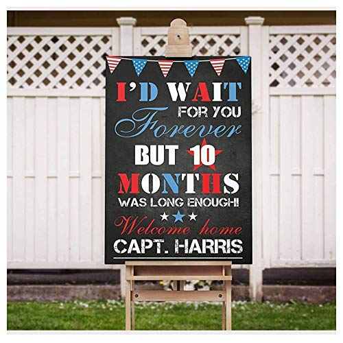 SPEEDYORDERS - US Army Welcome Home Sign, Military Sign Welcome Home, US Soldier Welcome Home Sign, Military Personalized Poster, Handmade Party Decorations, Size 24x18, 36x24 and 48x36