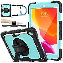 top 10 ipad protective case Case for iPad 8. / 7.Generation, new case for iPad 10.2 [Full-body] & [Shock Proof] Armor protection …