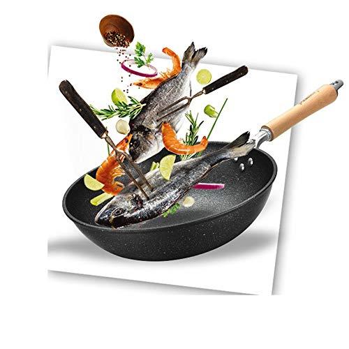 MxZas Duurzame Multifunctionele Home Gebruik 32cm Nonstick Koekenpan Met Deksel En Steamer, Voor Alle Kookplaten Types Inclusief Inductie Saute Pan