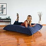 Jaxx Bean Bags Jaxx 5.5 ft Pillow Saxx Bean Bag, Premium Chenille - Navy