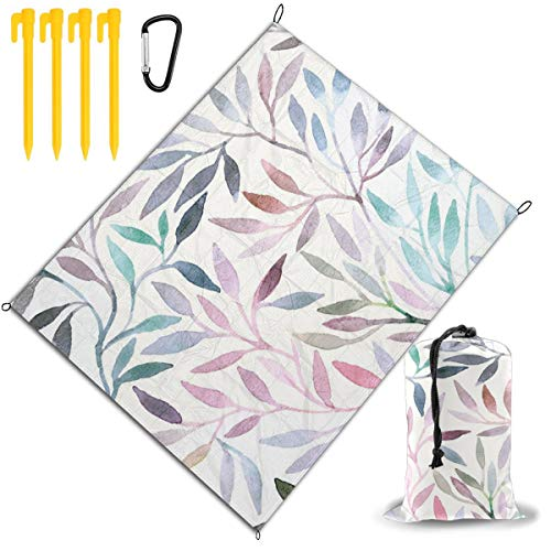 Purchase Outdoor Picnic Blanket 67x57inch Watercolor Flowers1 Foldable Waterproof Extra Large Picnic...