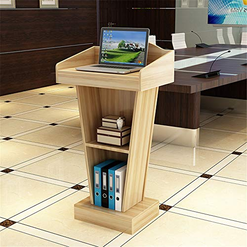 Yamyannie Rednerpult Massivholz-Katheder Konferenzraum Welcome Podium Tisch Büro Training Rezeption Stehpulte (Color : Wood, Size : One Size)