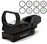 RioRand Tactical 4 Reticle Red Dot Open Reflex Sight with Weaver-Picatinny Rail Mount